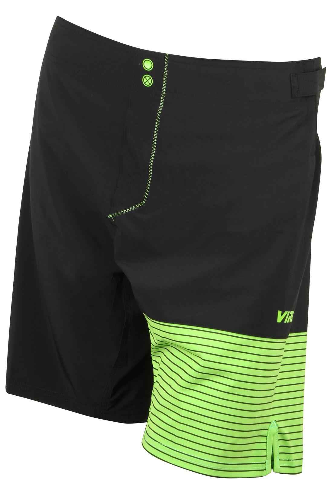 Virus Hombre Hydro St4 Performance Pantalones Cortos- Negro verde   en promociones de estadios