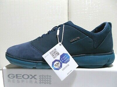GEOX D NEBULA G scarpe donna sneakers Textile+Suede Navy