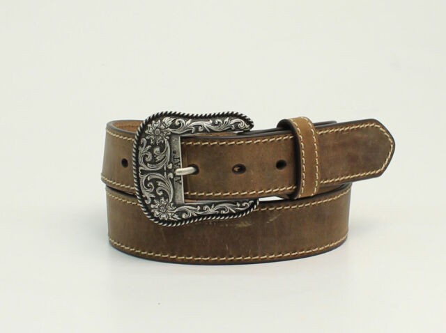 Ariat Women/'s Brown Leather Concho Belt A1528244