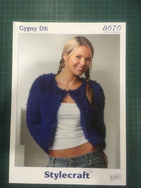 "Stylecraft Gypsy Dk 8070 Knitting Pattern Ladies Girls 28-38/"" Cardigan"