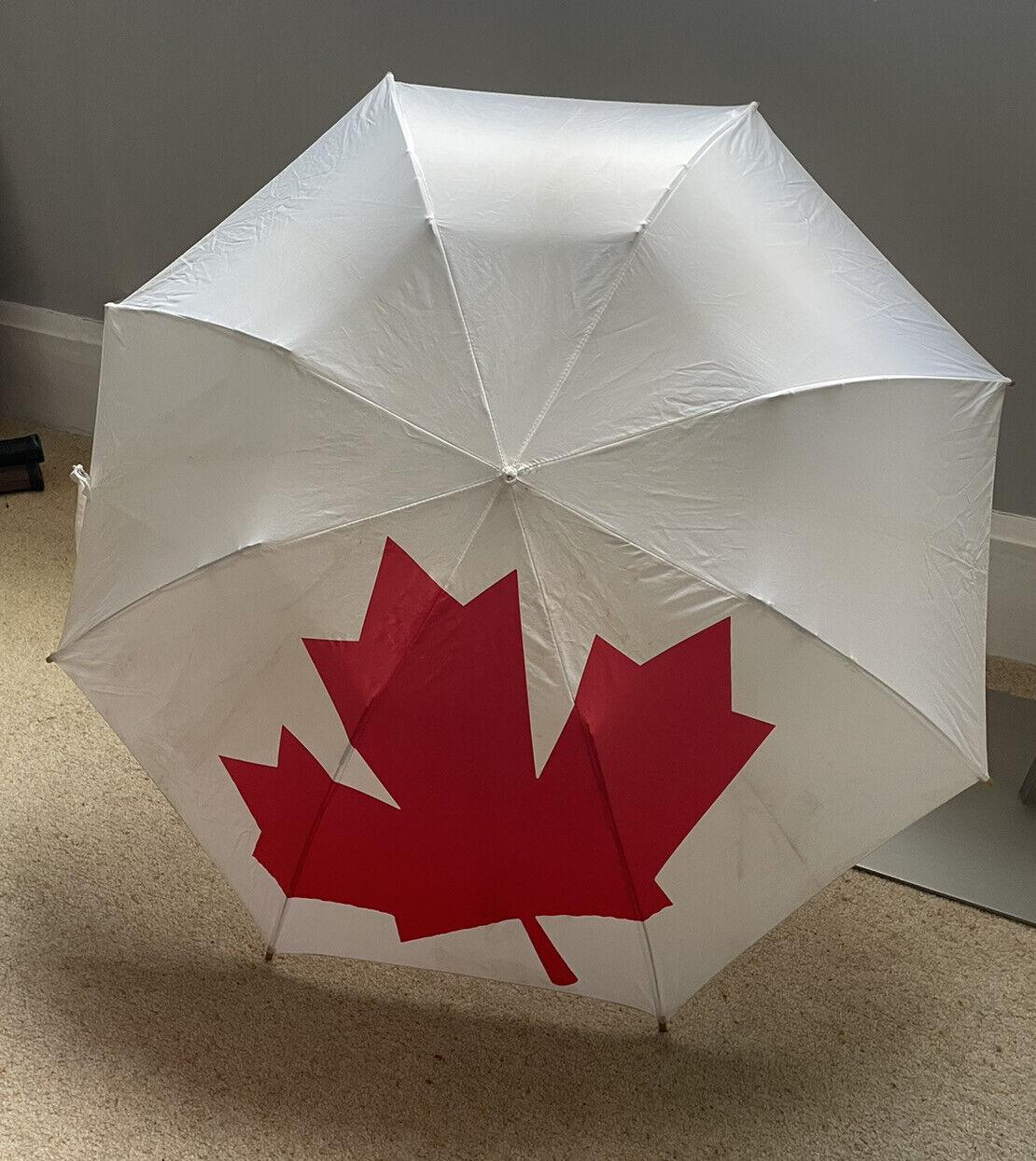 Super Nylon Umbrella CANADIAN Maple Leaf Flag Print - Festival Brolly