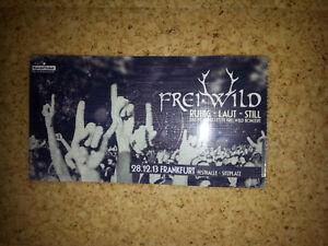 Freiwild Frei Wild Frankfurt Festhalle Sammler - Ticket 2013 laminiert - Ludwigsburg, Deutschland - Freiwild Frei Wild Frankfurt Festhalle Sammler - Ticket 2013 laminiert - Ludwigsburg, Deutschland