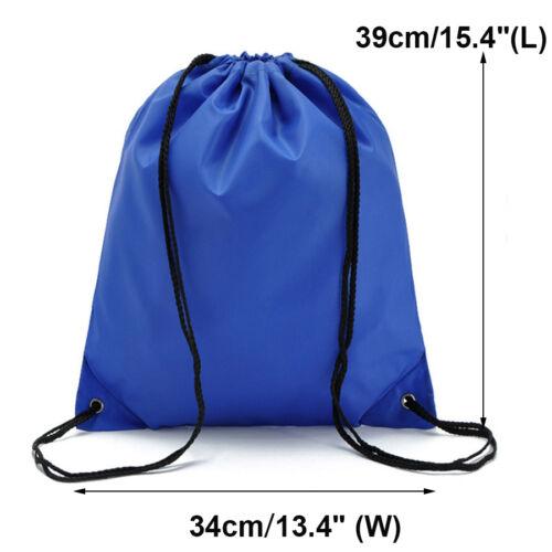 String Drawstring Backpack Cinch Sack Gym Tote Bag School Sport Daily Gym Pack