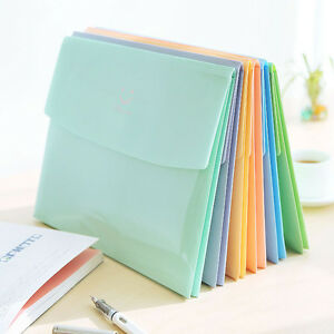 Cute Smile A4 PVC Bag School Office Supplies File Folder Bag Stationery