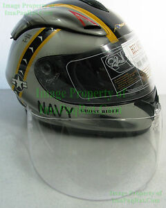 NEW-AKUMA-V1-CLEAR-Visor-Ghost-Rider-F14-amp-Werewolf-Helmet-NICE-Face-Shield