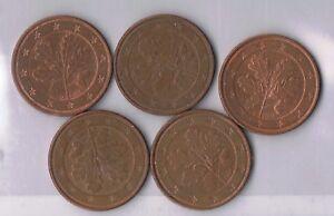 EURO-111 Euro-Münzen-Set 5-teilig 5x5ct 0,05€ BRD A D F G J 2004 Umlaufqualität - Glauchau, Deutschland - EURO-111 Euro-Münzen-Set 5-teilig 5x5ct 0,05€ BRD A D F G J 2004 Umlaufqualität - Glauchau, Deutschland
