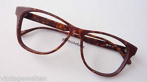 Esprit-braune-Oversizedbrille-grosse-Glaeser-Brillenfassung-Damen-Herren-NEU-sizeM