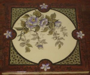 VERY PRETTY ENGLISH PERIOD TILE FLOWERS