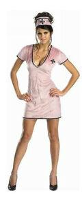 SEXY-NURSE-COSTUME-Adult-Women-Medium-8-10-Good-Medicine-Pink-Halloween-NEW