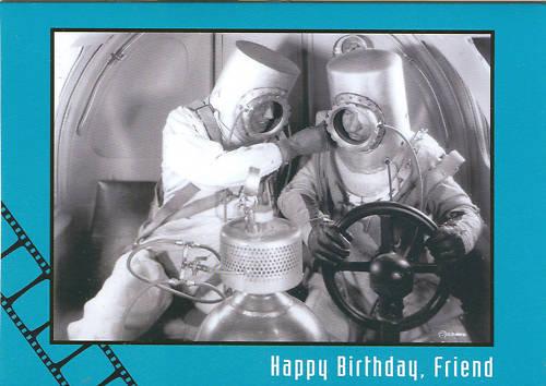 AIR HAWKS birthday-card 1935 Tex Allen /& Ralph Bellamy