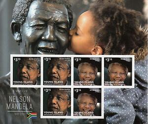 Young Island Gren St Vincent 2013 Neuf Sans Charnière Nelson Mandela 6 V M/s Iii Timbres-afficher Le Titre D'origine