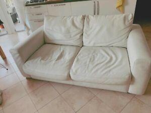 Divano In Pelle Natuzzi.Divano In Vera Pelle Bianco Divani Divani By Natuzzi 175 X 100 Ebay