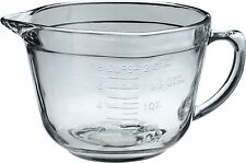 NEW Anchor Hocking Measuring Cup 2 Quart Ovenproof Glass Batter Mixing Bowl