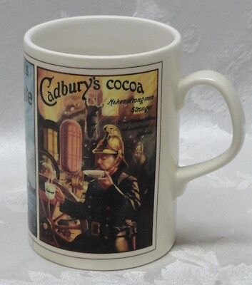 Rare Cadburys Cocoa Coffee Tea Mug Advertising ENGLAND Kilcraft Retro HTF Handle
