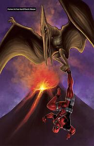 Deadpool-Jurassic-World-Pteranodon-Glossy-Print-11-x-17-In-Hard-Plastic-Sleeve