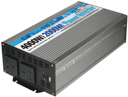 2000W Main Car Camping Power Inverter 230V AC12V DC With Twin USB Port