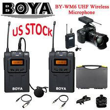 BOYA BY-WM6 UHF Wireless Microphone System for EFP ENG DSLR Canon Nikon Cameras