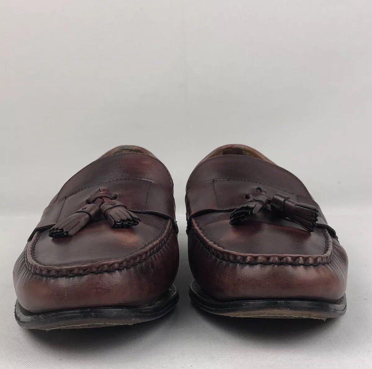 Allen Edmonds Schreier Loafers Cognac Brown Leather Mens SZ 14 D46