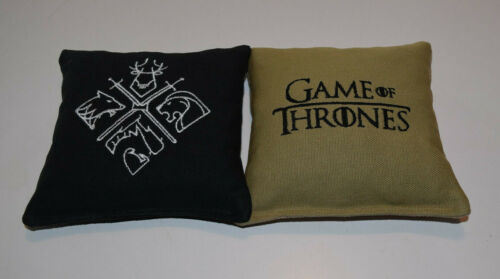 8 Quality Embroidered Cornhole Bags Game of Thrones 4 Black and 4 Khaki NICE!