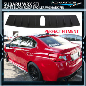 For 15 18 Subaru Wrx Sti Matte Black 6 2 Vortex Generator Roof Spoiler Shark Fin Ebay