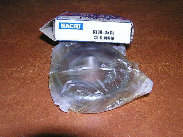 NACHI 60102NSE9C3 BEARING RUBBER SEALED 6010 2NSE9 C3 6010-2RS-C3 50x80x16 mm