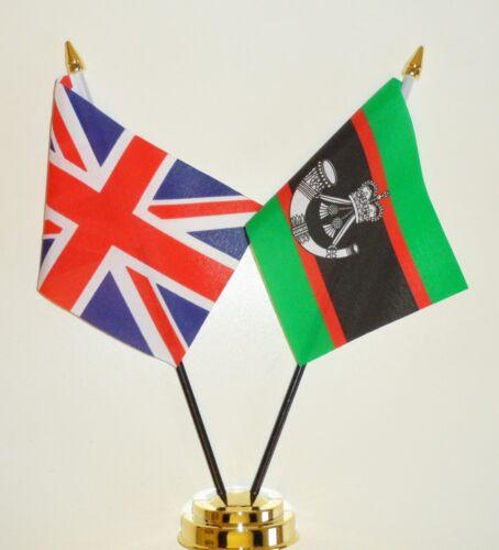 United Kingdom /& Rifles Regiment Double Friendship Table Flag Set