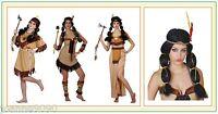 LADIES NATIVE CHEROKEE INDIAN PRINCESS POCAHONTAS TIGERLILY FANCY DRESS COSTUME