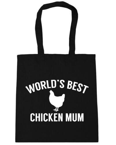 10 litres World/'s best chicken mum Tote Shopping Gym Beach Bag 42cm x38cm