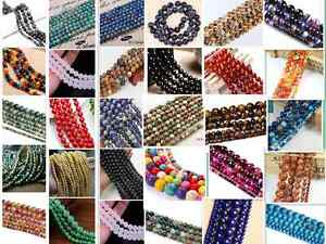 4mm-6mm-8mm-10mm-Wholesale-Natural-Gemstone-Round-Spacer-Loose-Beads-Free-Ship