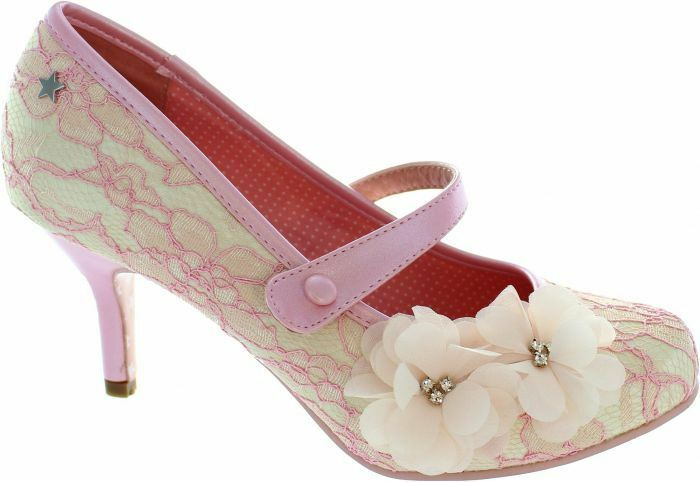Joe Browns Couture Louisa Pink Cream Mary Janes NEW SS18 Size 4