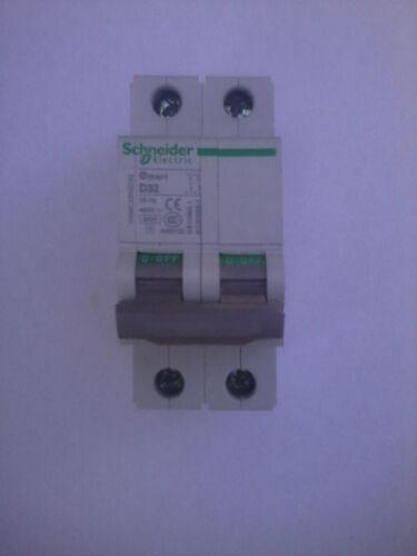 Schneider Electric Circuit Breaker OSMC32N2D32. 2 pole. 32 Amp. D Curve
