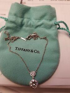 1732c97d5 Tiffany Co Platinum E VS 1.89 Round Diamond Bezel Elsa Peretti ...
