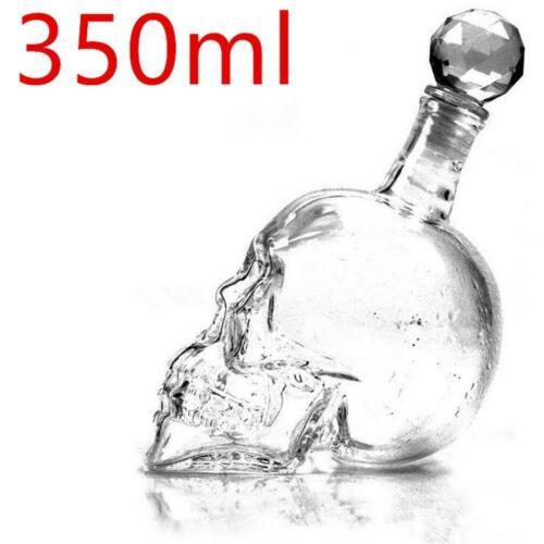 Skull Glass Whisky Wine Home Bar Crystal Bottle Creative Decanter Transparent