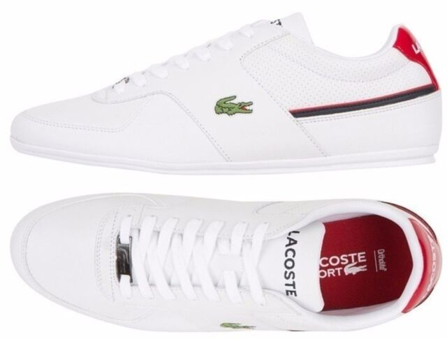 dd5d2c017b66e2 NEW Lacoste Shoes 13 Taloire Sport White Leather Casual Fashion Sneakers NEW