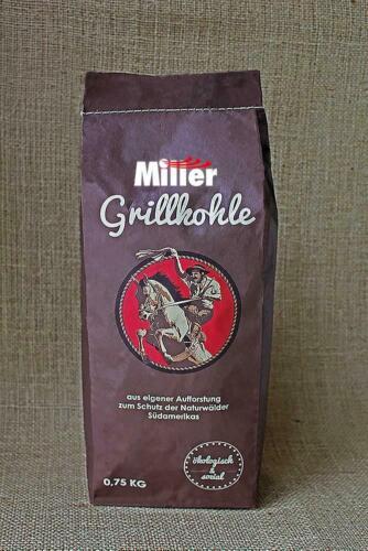 ökologisch /& sozial perfekt für Tischgrill 0,75 kg Grillkohle Holzkohle Miller