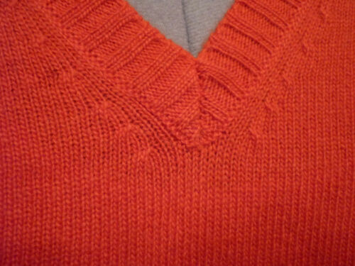 V 40 42 Nuovo Taglia con Sweater Softwool Manica Donnel scollo lunga a Orange 40 qxwqzPCO