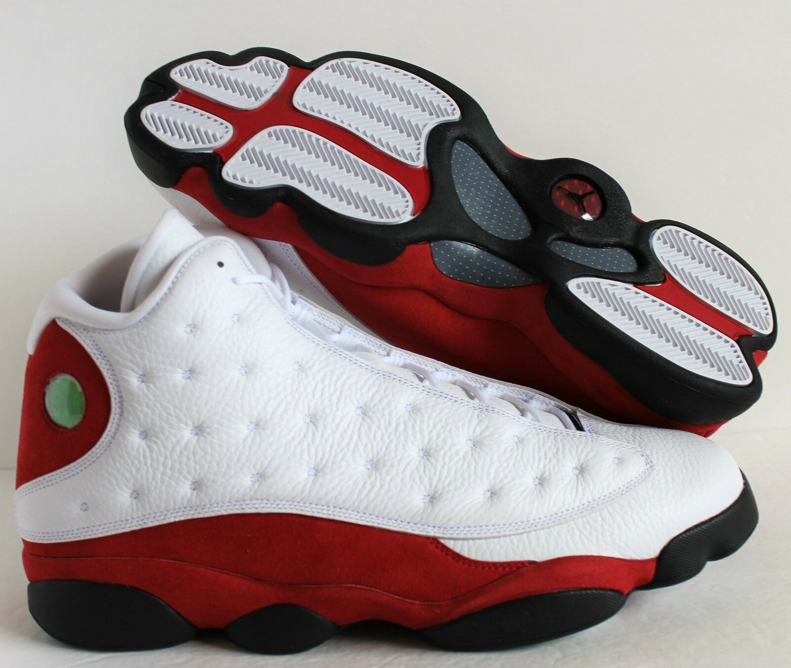 Nike air jordan 13 retrò chicago white-nero-team red sz 11 [414571-122]