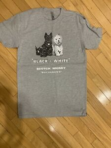 Black White Scotch Whiskey Scottie Dog Terriers Soft Cotton All Sizes M To 3x Ebay