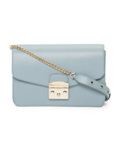 NEW-AUTHENTIC-FURLA-METROPOLIS-AZZURRO-BLUE-HANDBAG-SHOULDER-BAG-WOMENS