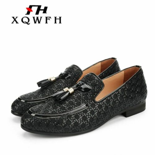 XQWFH 2019 Men Shoes luxury Brand Braid Leather Casual Driving Shoes Men