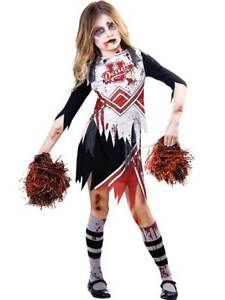 Halloween Costumes For Kids Girls Zombie.Details About Child Girls Zombie Cheerleader Fancy Dress Costume Kids Halloween High School