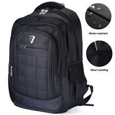 Waterproof Mens 17 inch Laptop Backpack Rucksack Outdoor Travel School Bag Black