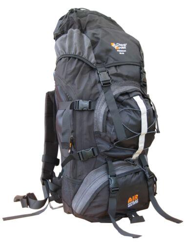 Air Cool Rucksack 60L 65L Travel Backpack Bag Hiking Camping Travel Blue Pack