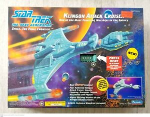 Star-Trek-Klingon-Attack-Cruiser-Playmates-6155-Lights-amp-Sounds-Work-1993