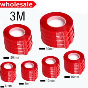 Double-Sided-Super-Sticky-Heavy-Duty-Adhesive-Tape-RED-For-Cell-Phone-Repair-Hot