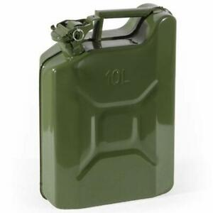 Tanica-in-metallo-per-carburante-benzina-omologata-UN-chiusura-ermetica-10-litri