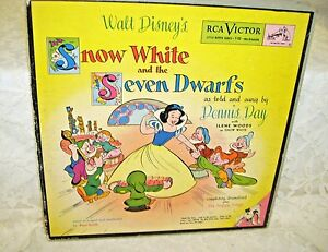 Disney-039-s-Snow-White-and-the-Seven-Dwarfs-RCA-Victor-Book-and-Records-1949