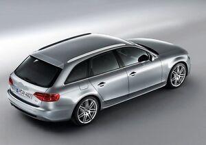 Barre Portatutto Nere Audi A4 Avant 08 Rail Integrati Ebay