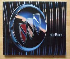 BUICK 1992 range USA Market brochure - Riviera LeSabre Roadmaster Skylark Regal