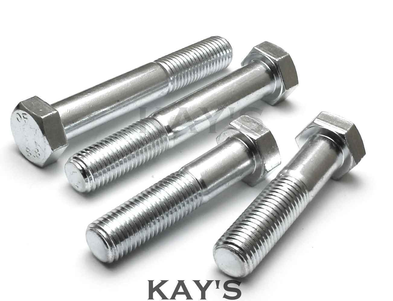 M12 (12mm) PART THREADED HEXAGON HEAD BOLTS HIGH TENSILE 8.8 ZINC PLATED SCREWS